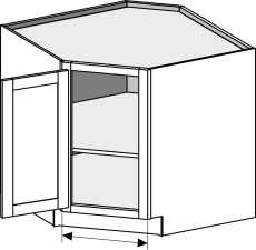 Base Corner – Diagonal, Full Door