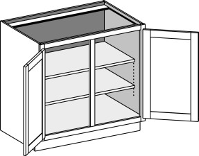 Base Full Door Cabinet w/Double Doors