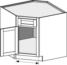 Base Sink Corner Cabinet