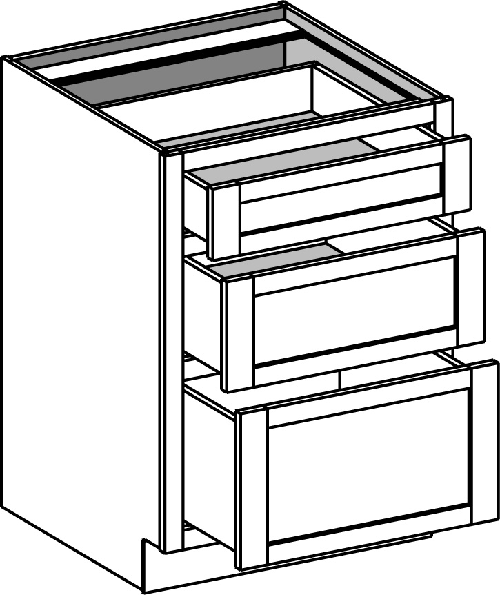 Base Cabinet 3 Drawer