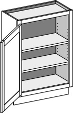 Base Full Door Cabinet – Wall Depth, Single Door
