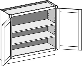 Base Full Door Cabinet – Wall Depth, Butt Doors