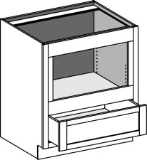 Base Built In Under-Counter Microwave Cabinet