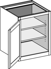Desk Base Full Door Cabinet – Single Door