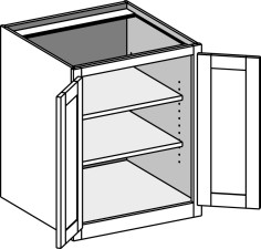 Desk Base Full Door Cabinet – Butt Doors