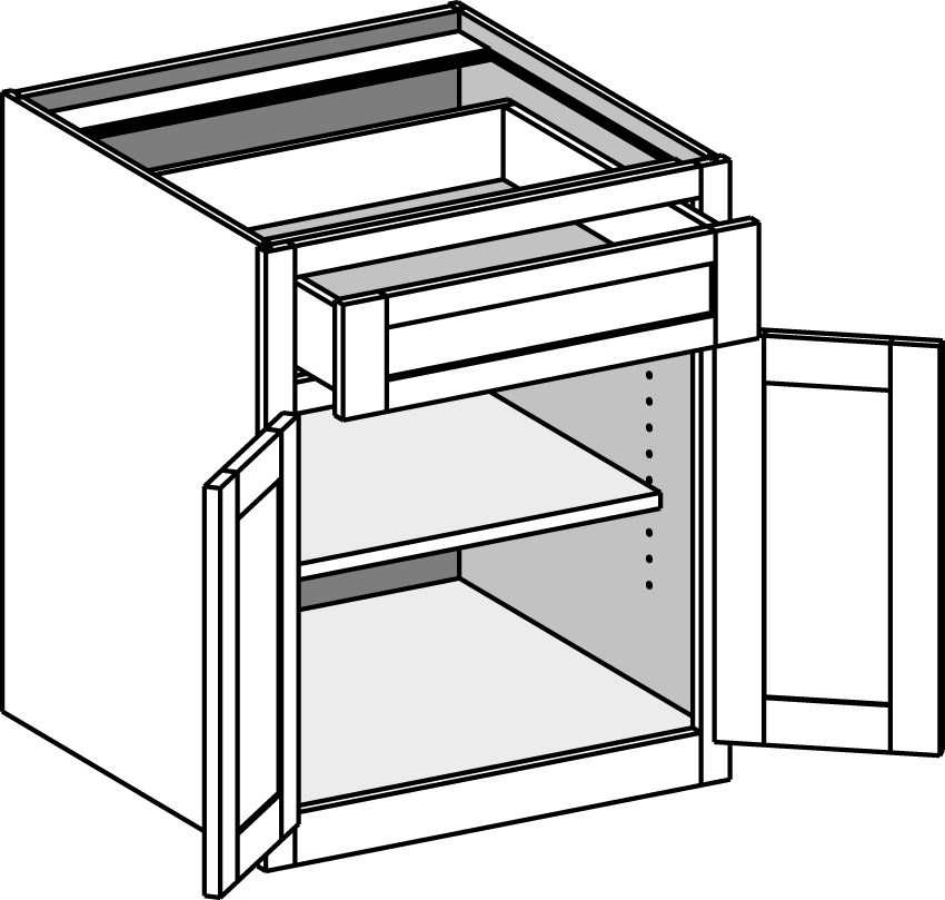 Butt Door Base Cabinet