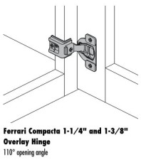 Ferrari 1-1/4 and 1-3/8″ Full Overlay Hinges