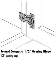 Ferrari 1/2″ Overlay Hinge