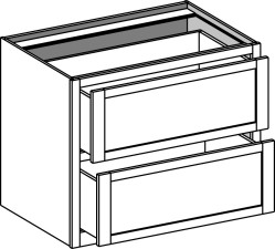 Lateral File Desk 2 Drawer