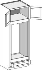 Oven Cabinet – Double Oven, Type A w/Butt Doors