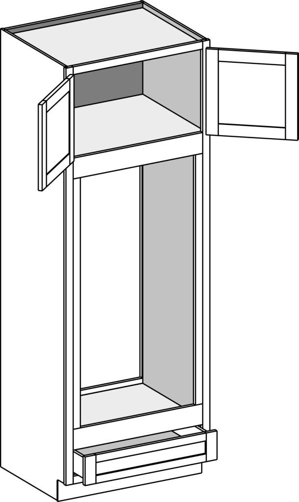 Oven Cabinet U2013 Double Oven, Type A W/Butt Doors