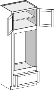 Oven Double Opening Type B with Butt Doors 3084-3396