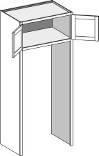 Refrigerator Tall – Double Side Panels, Butt Doors