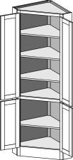 Tall Corner Hutch