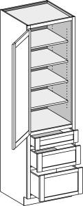 Utility 3 Drawer 1884-2496