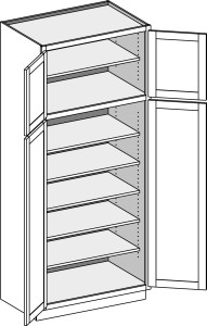 Utility Cabinet Deep with Butt Doors 2484-3696