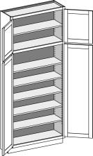 Utility Cabinet – Shallow (12-1/2″ Deep), Butt Doors