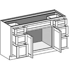Vanity Combination 6 Drawers w/Butt Doors