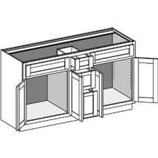 Vanity Combination 3 Drawer w/Butt Doors