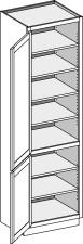 Vanity Linen Cabinet Base Height, Single Door