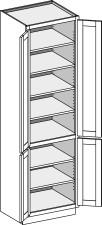 Vanity Linen Cabinet Base Height w/Butt Doors