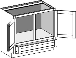 Vanity Sink 'Reverse' Cabinet w/Double Doors