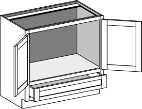Vanity Sink 'Reverse' Cabinet w/Butt Doors