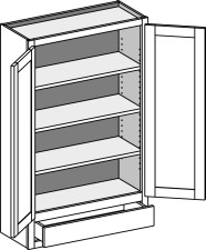 Wall Cabinet w/1 Drawer – Butt Doors
