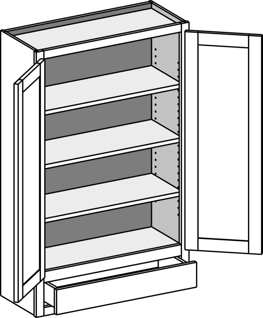 Wall Cabinet W/1 Drawer U2013 Butt Doors