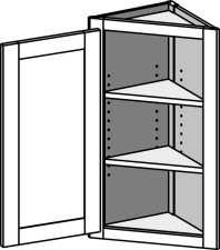 Wall Angle End Cabinet