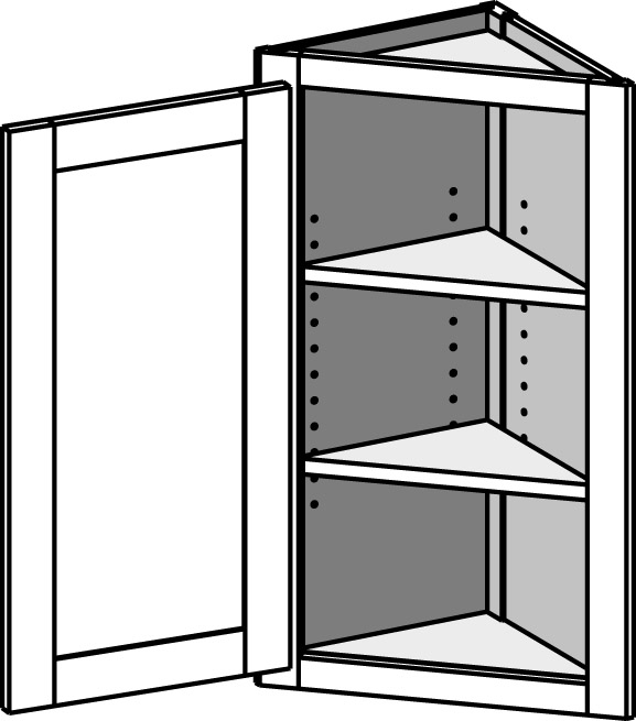 Wall angle end cabinet the cabinet joint for Upper end kitchen cabinets