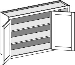 Wall Blind Corner Cabinets w/ Butt Doors