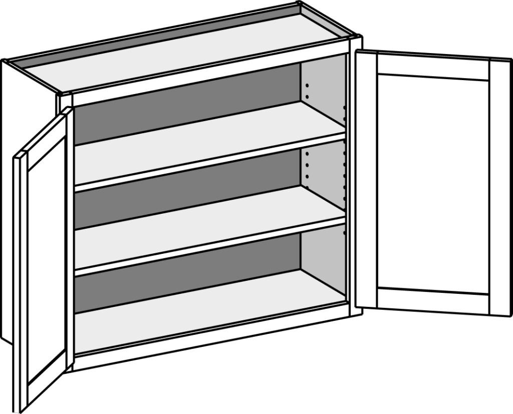 Double Door Wall Cabinet W Doors
