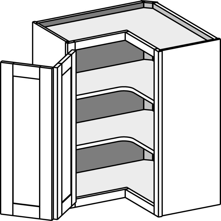 Superbe Wall Corner Pie Cut Cabinets