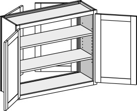 Double Entry Wall Cabinets w/Butt Doors