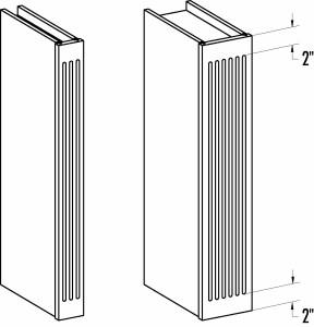 Wall Filler Columns 0330-0665