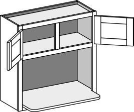 Wall Microwave Shelf Cabinet – Double Doors