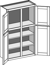 Two Tier (Transom) Wall Cabinet – Double Doors