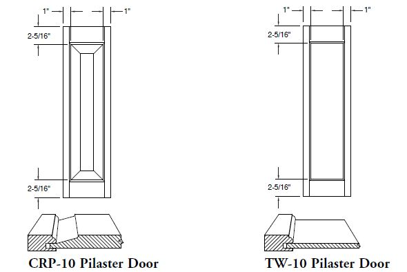 Pilaster Doors Raised Amp Flat Panel Cabinet Joint