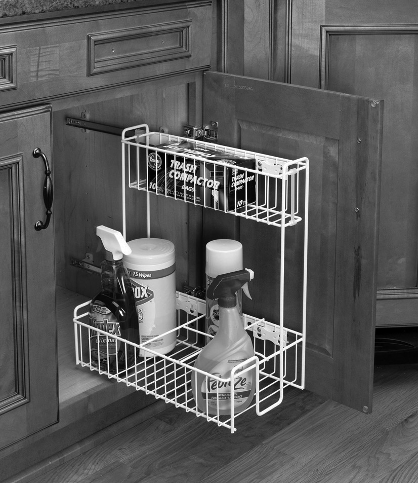 under cabinet basket side mount sink basket cabinet joint 27459