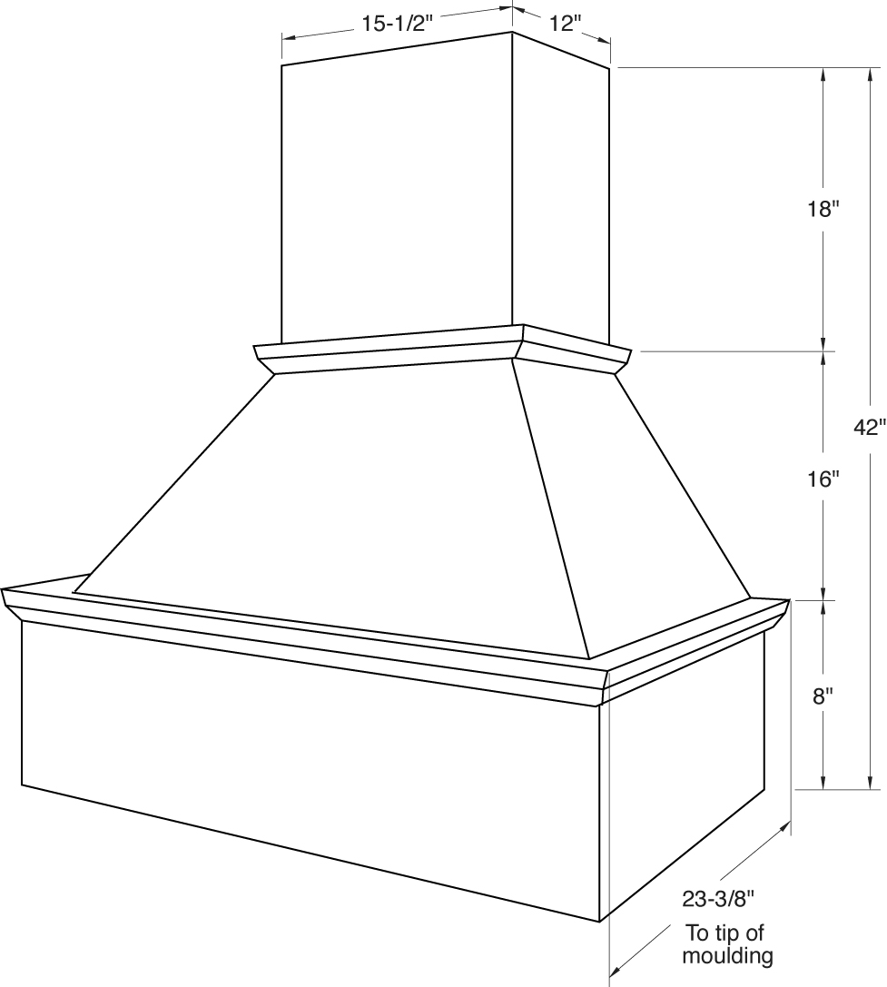 Vchim Straight Valance Range Hood Cabinet Joint