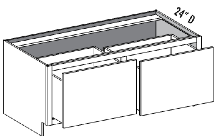 drawer base  u2013 double drawer w divider base cabinets   cabinet joint  rh   cabinetjoint com