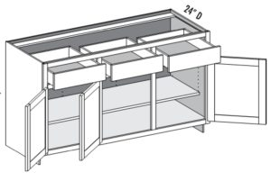 Base Cabinet – 3 Door/3 Drawer