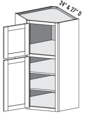 Two Tiered Wall Cabinet – Diagonal