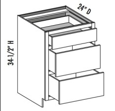 Base 3 Drawer – Equal Height Drawers