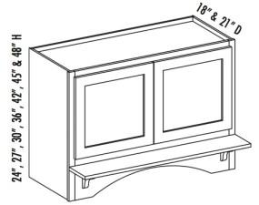 Range Hood Cabinet w/Butt Doors