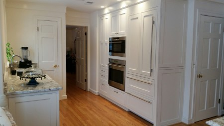 Cole project, Inset cabinets with CRP10 door design and Crystal White Paint