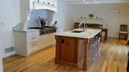 Cole Kitchen, Inset cabinets with CRP10 door design and Crystal White Paint