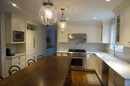 Jacob Kitchen, Inset cabinets with Madison door and Crystal White Paint