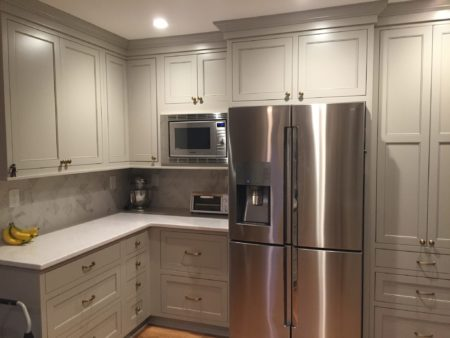 Fusco Job: Flush inset, Madison Door, Hearthstone Grey paint